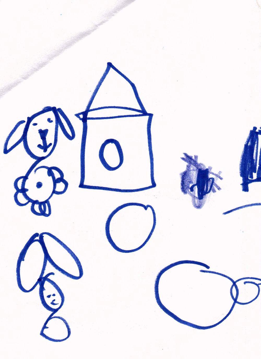 Galeria z przedszkola: pies i buda