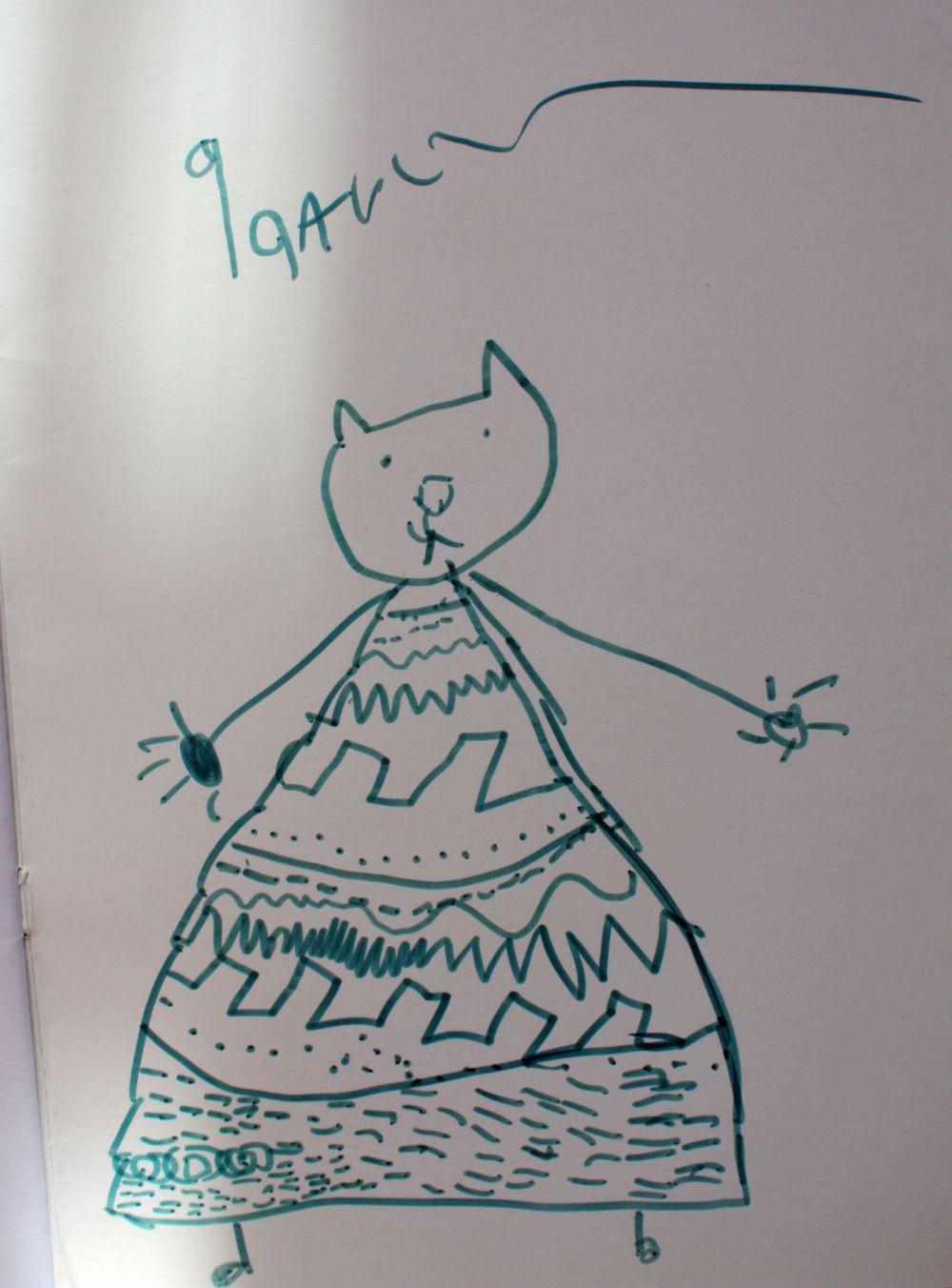 Kotek w sukience