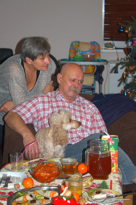 Dziadkowie oglądający mój występ
