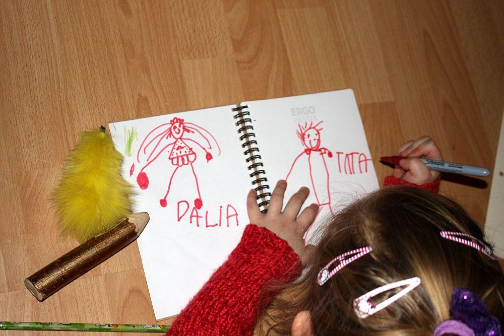 Mój rysunek: Dalia,Tata
