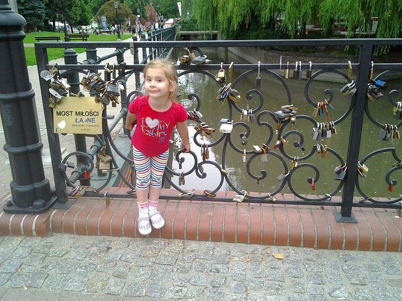 Na Moście Miłości w Gdańsku