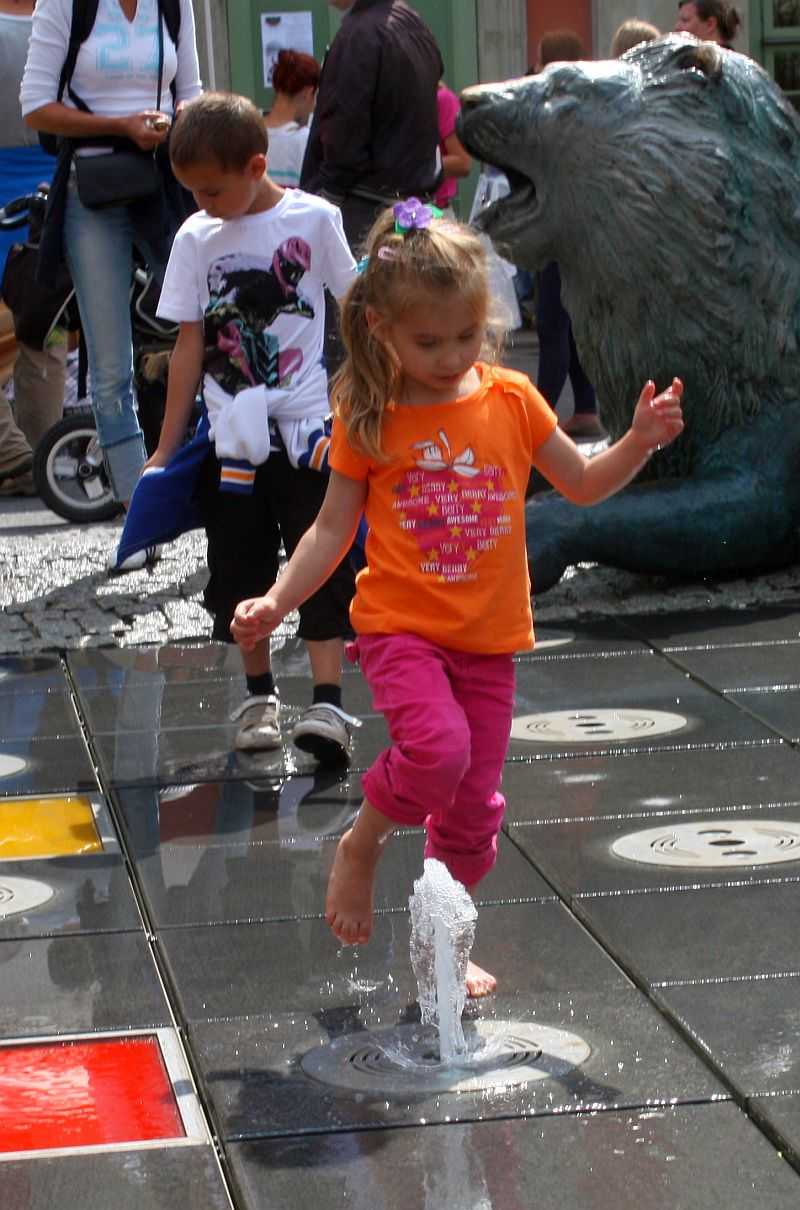 Tańczące fontanny w Gdańsku