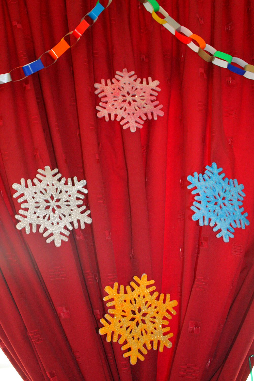 Brokatowe płatki śniegu