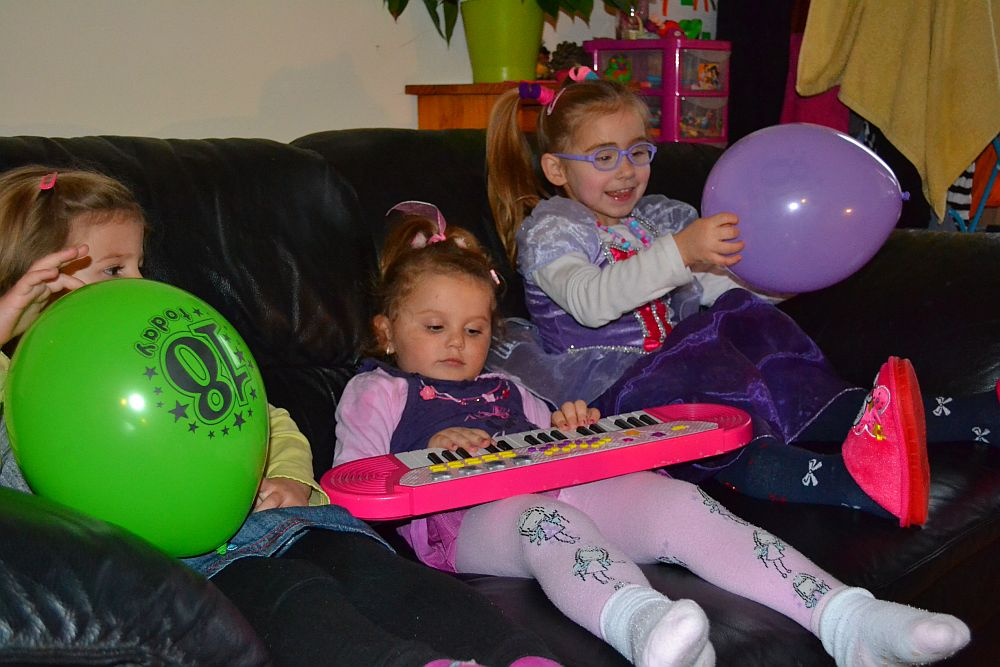 Dalia, mała Dominika i Nicola