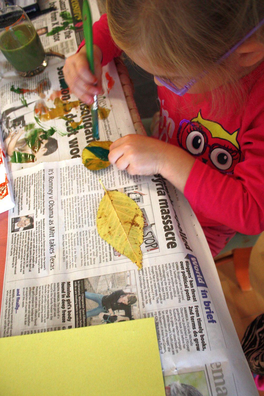 Maluję jesienne liście