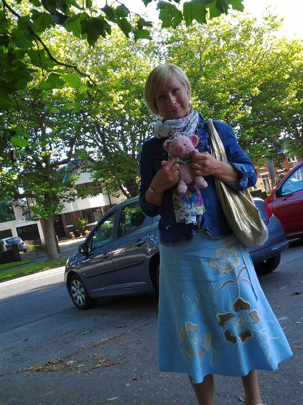 W drodze....zrobiłam mamie zdjęcie