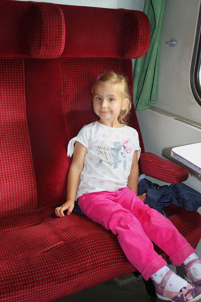 Dalia w pociągu