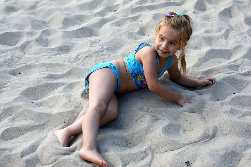 Syrenka na piasku