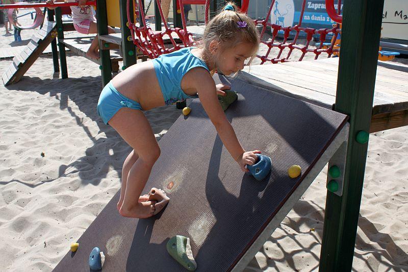 Na placu zabaw w Gdyni