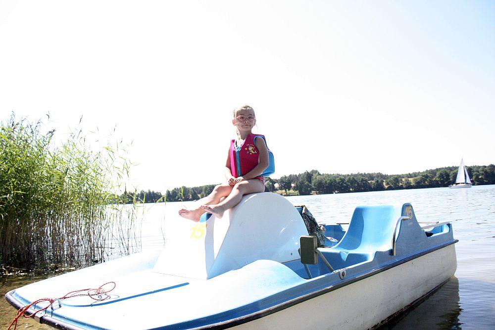 Pierwszy raz na rowerku wodnym ;-)