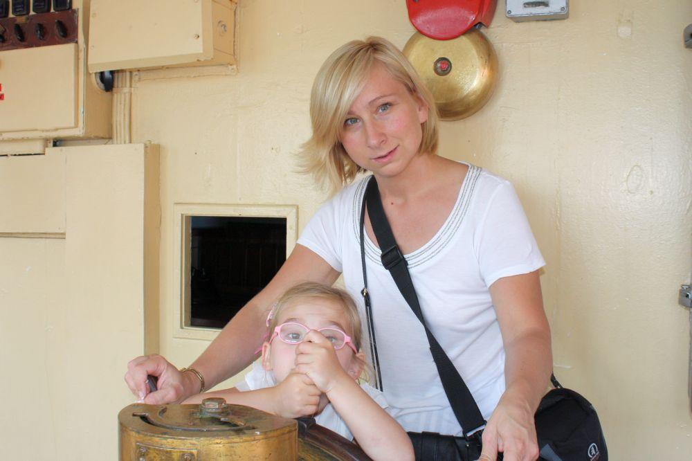 Z mamą przy sterach