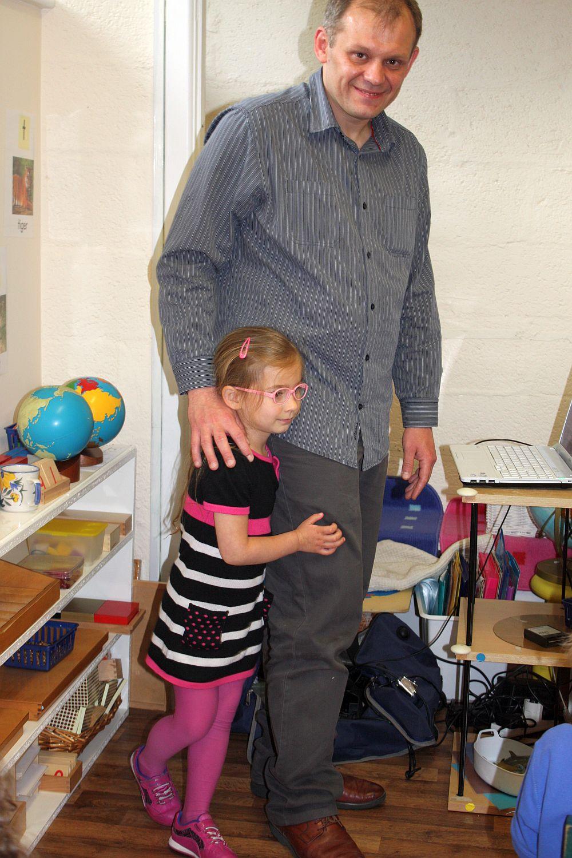 Dalia i tata w przedszkolu
