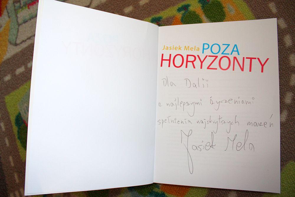 Książka Jasia Meli z dedykacją dla mnie