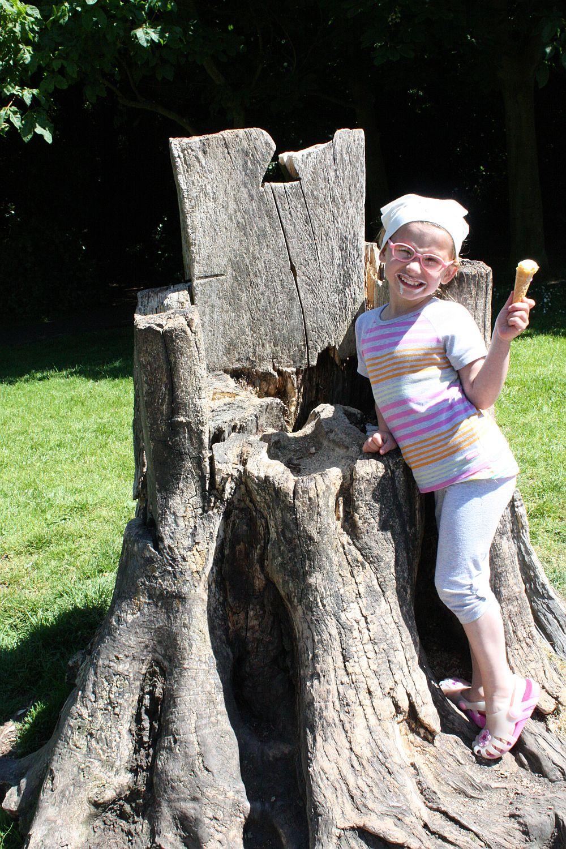Drewniany tron