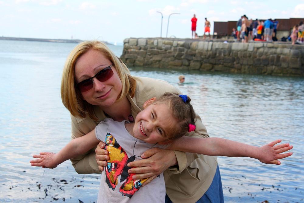 Ja i mama w Dún Laoghaire