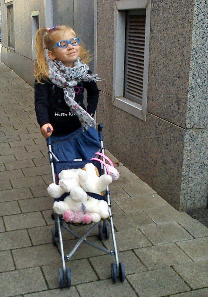 Dumna Dalia z wózkiem :-)