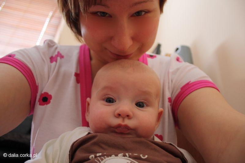 Ale zrobiłam minkę :-) mama i ja
