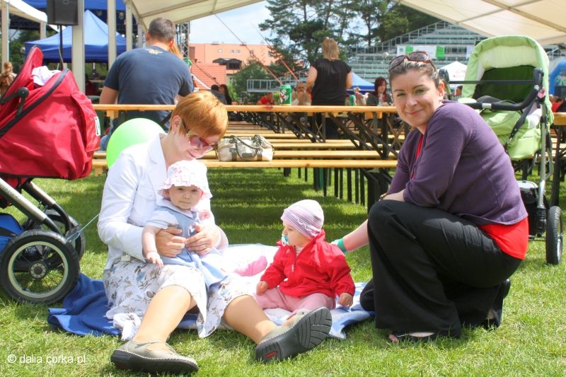 Rodzinny piknik z mamą, ciocia Paulą i Wercią
