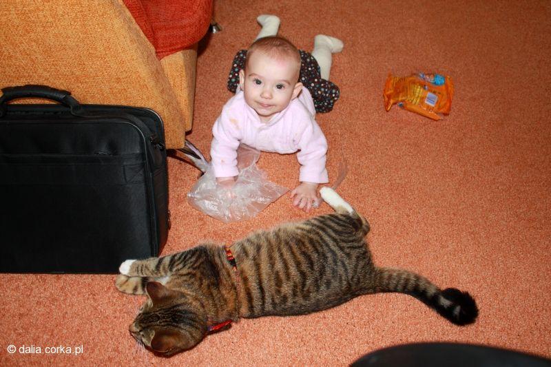 Bawię się z kotkiem :-)