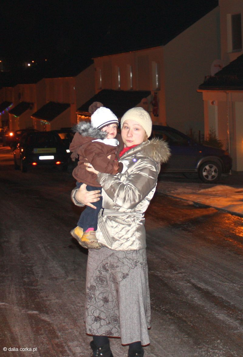 Z mamą...ale było zimno !