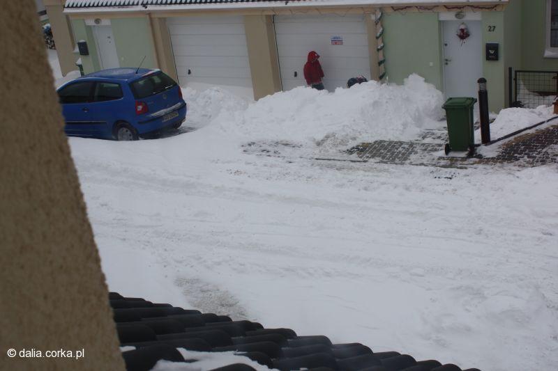 Zima 10 stycznia 2010 widok z mojego okna