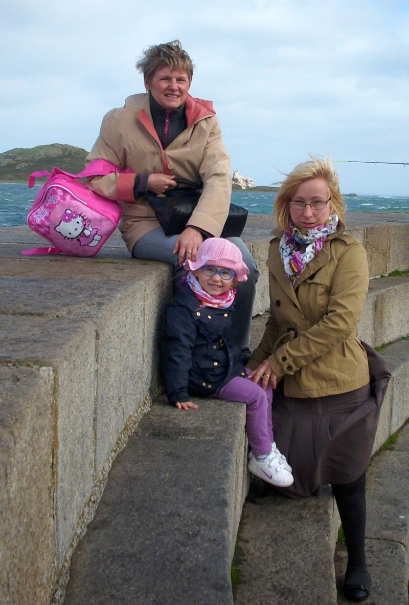 Ja z mamą i ciocią Gosią, odwiedzamy foki w Howth