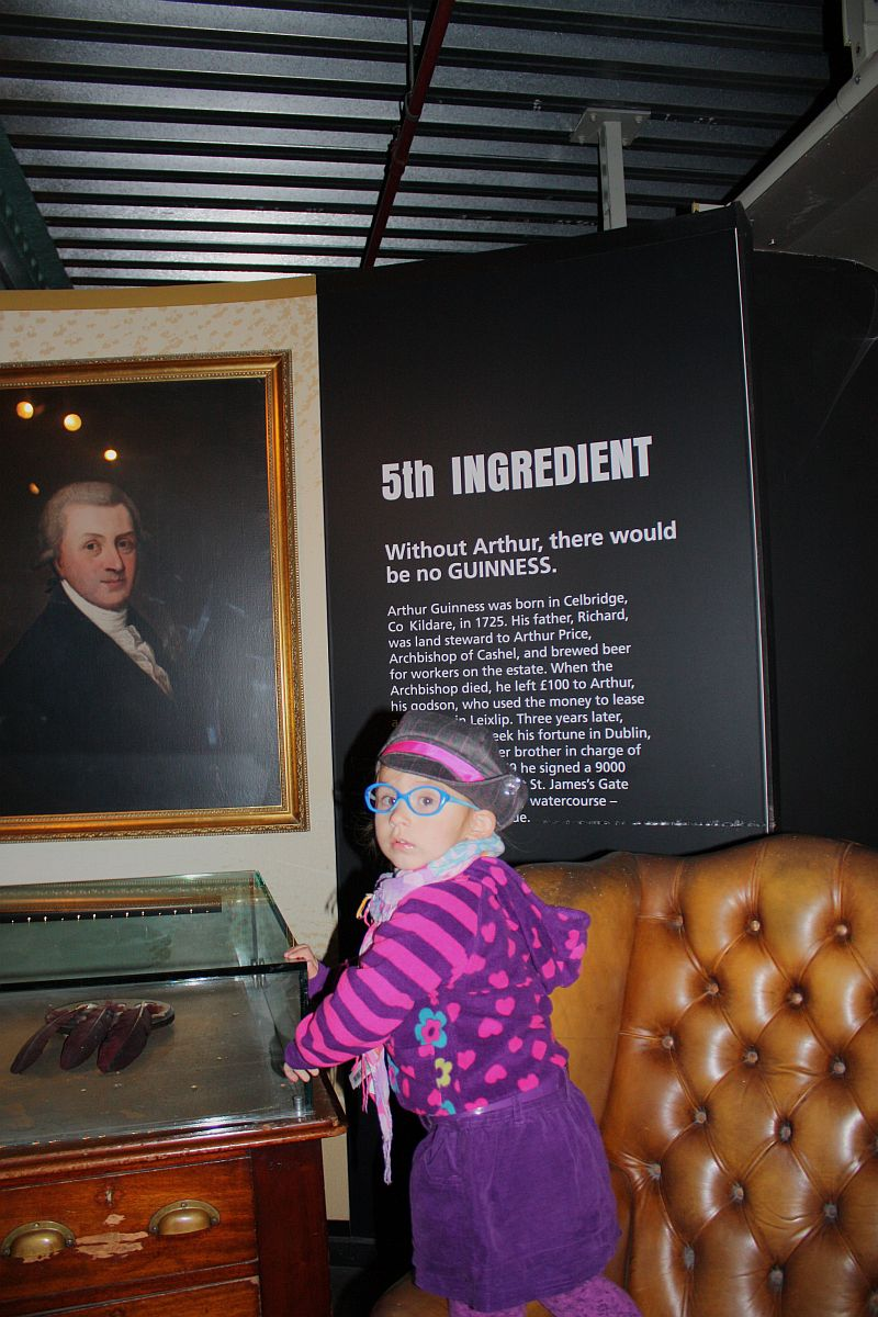 Ja z Arturem ;-) (zwiedzanie Guinness Storehouse)