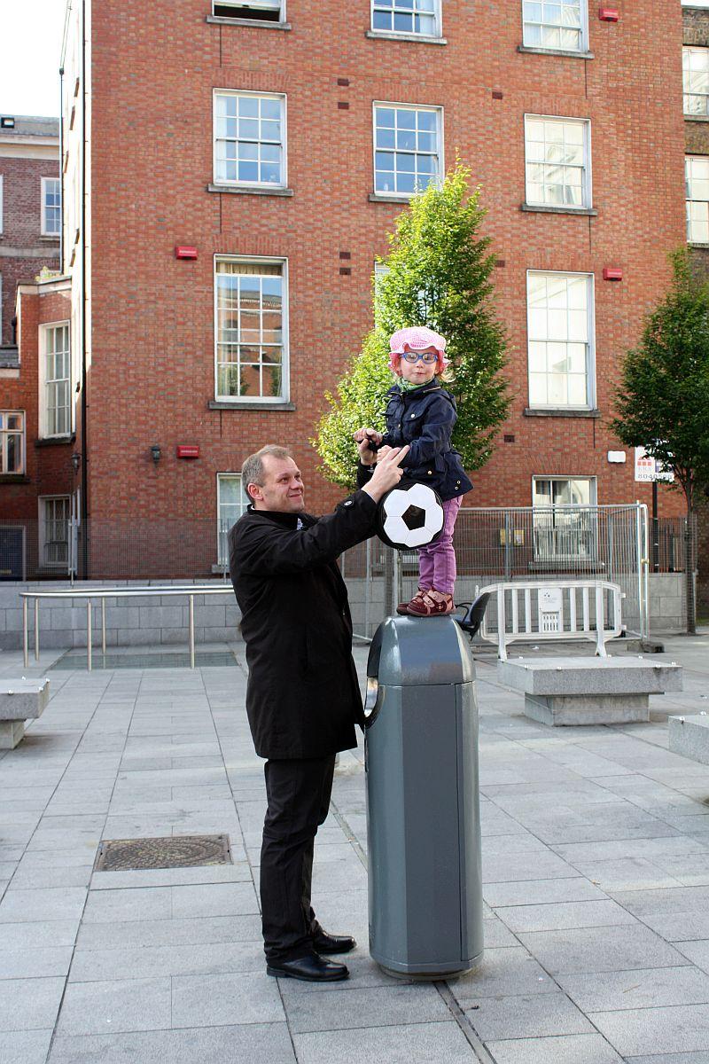 Spacer po Dublinie z tatą